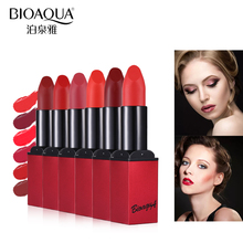 Bioaqua Matte Lipstick Velvet Long Lasting Waterproof Moisturizing Lipsticks Lips Skin Nourishing Moisturizer Beauty Lip Care