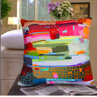 Super soft velvet Abstract style Car and sofa decorative cushion cover without core Custom made is available