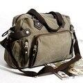 Новый плеча повседневная сумка сумка холст человек дорожная сумка для мужчин поездки/ежедневного использования, серый хаки черный цвет бесплатная доставка