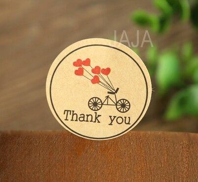 100 шт./лот круглый велосипедов Дизайн праздник с красное сердце наклейка подарок печать наклейки на домашний хлебобулочных и подарочная упа...