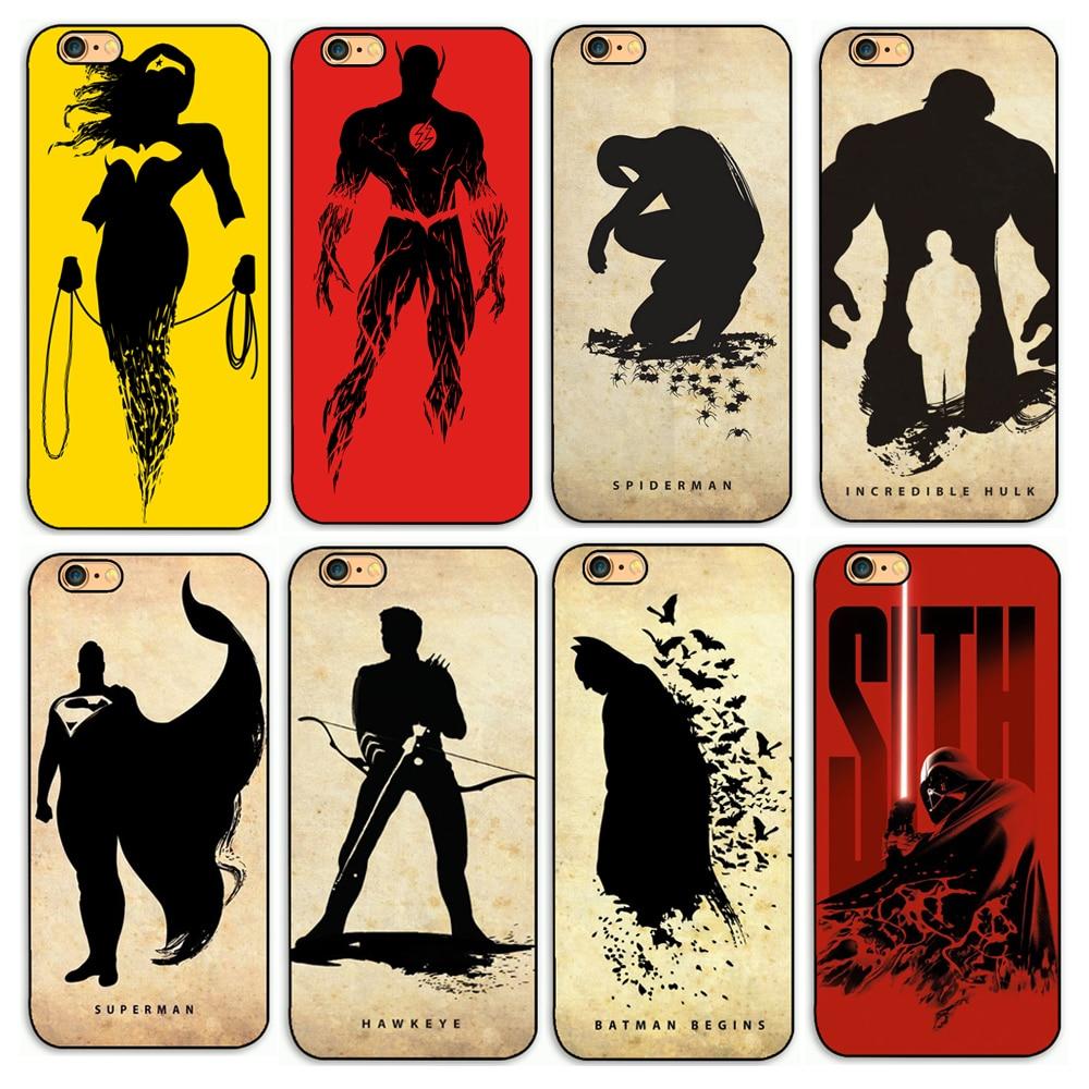 Hot!<font><b>Super</b></font> <font><b>Hero</b></font> Batman Black Widow <font><b>Spider</b></font> <font><b>Man</b></font> Design Styles Hard Pc Case for Apple iPhone 4 4s 5 5s se 5c 6 6s plus Cover