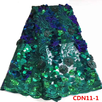 2018 Popular mesh net design embroidery lace fabric Fashion wedding beads flowers tulle dress fabric wedding 3d