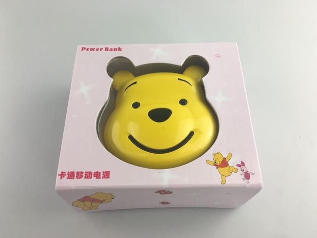 Encantador dos desenhos animados urso de pelúcia marrom 6000 mah banco de potência dual usb externo bateria com pendure corda para iphone samsung mobile