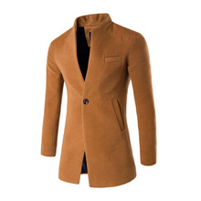 ZOGAA automne hiver manteau décontracté laine pardessus hommes vêtements coupe-vent hommes Long mince Cardigan veste manteaux col Mandarin(China)