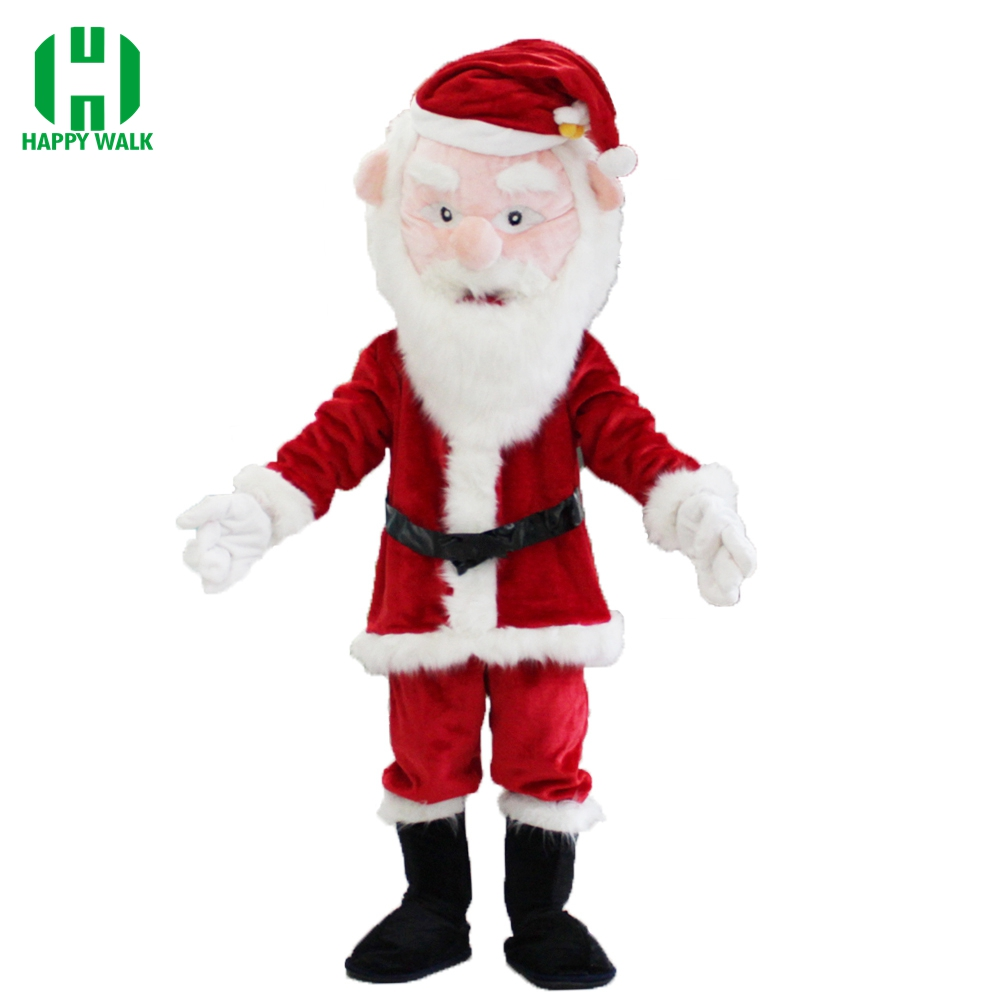 Christmas Santa Claus Mascot Costume Christmas Elf Festival Fancy Dress Mascot Costume Adult Character Cosplay Costume For Party