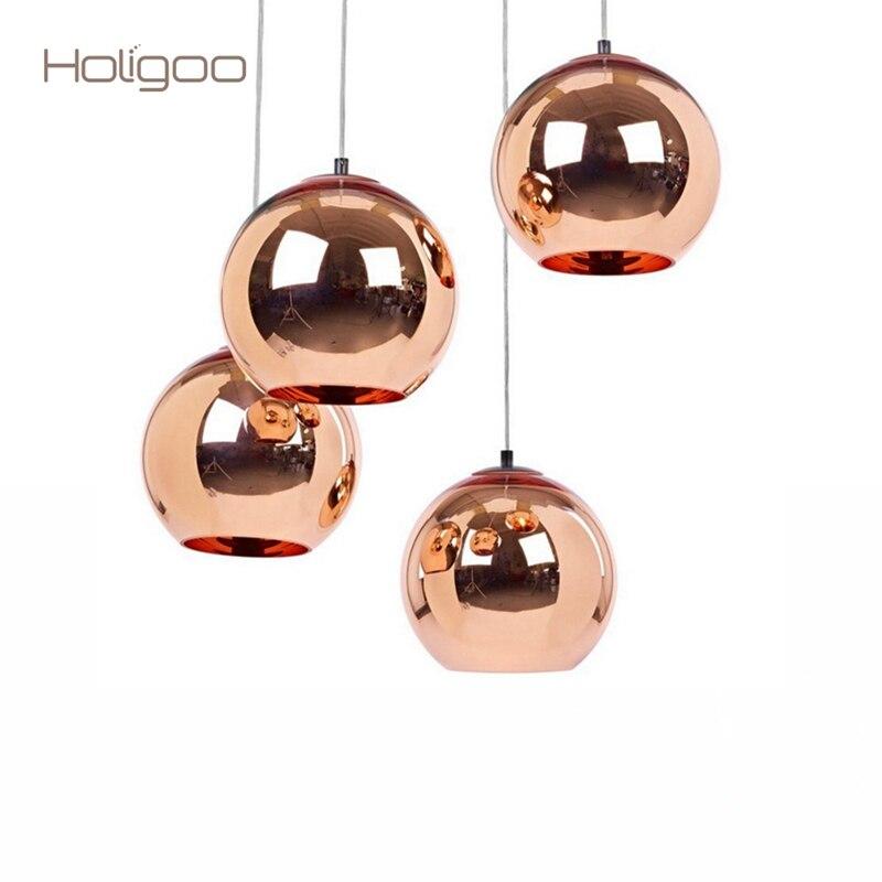 Holigoo Nordic Globe <font><b>Pendant</b></font> Lights Kitchen Fixtures Silver Gold Copper Glass <font><b>Pendant</b></font> Lamp Dinning/Living Room Decoration Light