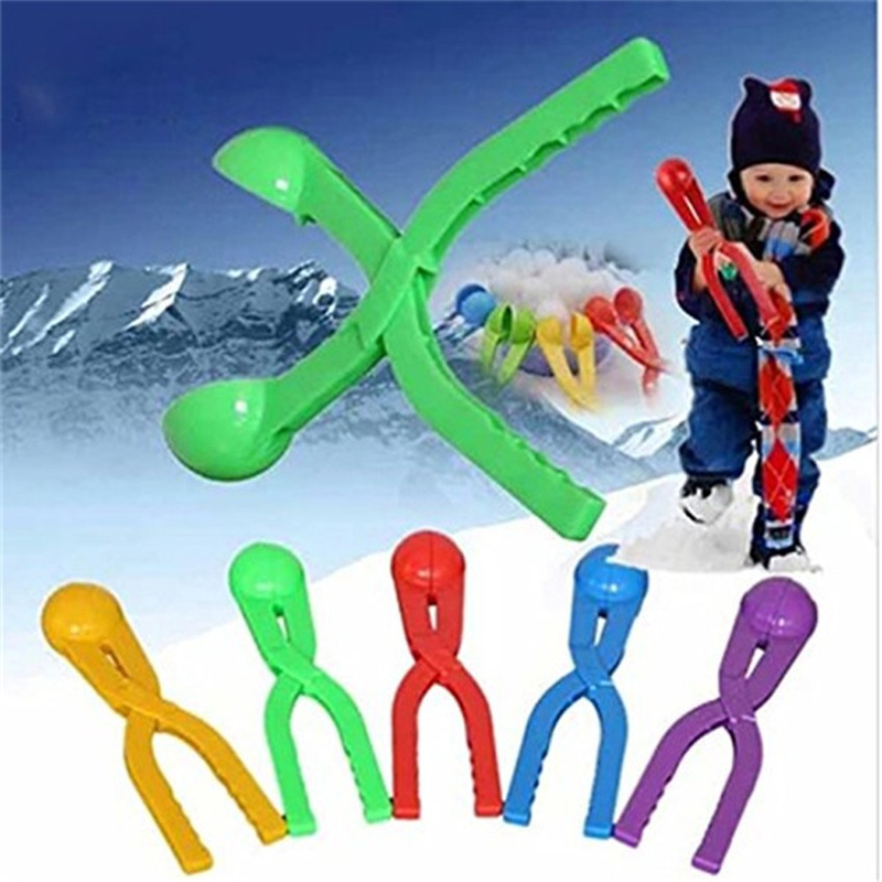 5 Pieces Snow Ball Maker Random Color Snowball Sand Mold Kids Tool for Winter Outdoor Sports Game