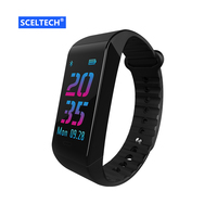 SCELTECH W6S Bluetooth Smart Bracelet Activity Tracker Dynamic Heart Rate Monitoring Smart Band With 0 96
