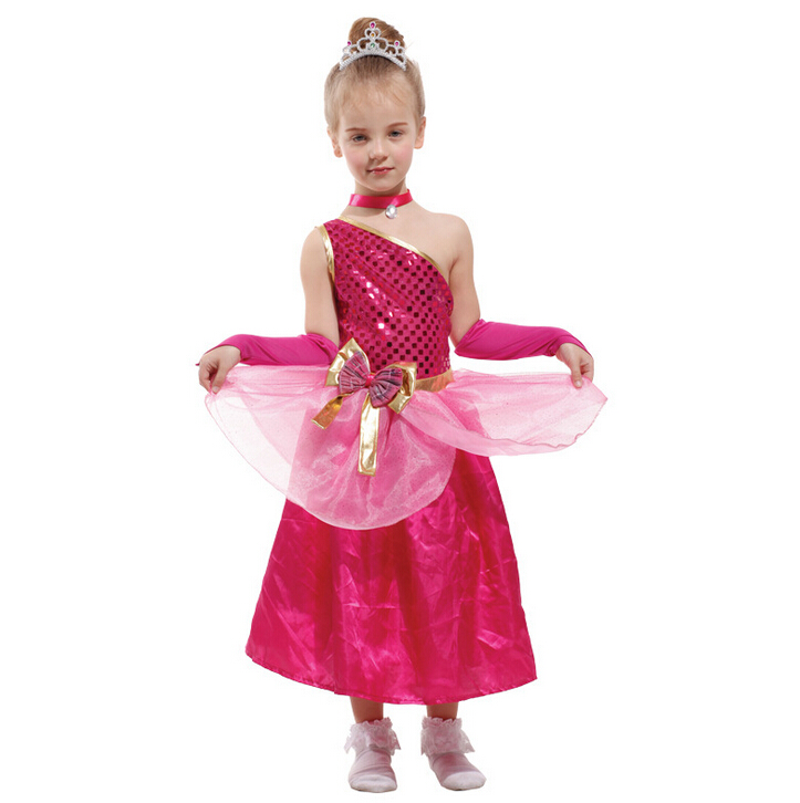 Children girl Banquet dresses cosplay costume Kids Christmas Halloween rose sequins dress + Neckwear + oversleeve costume set-in Girls Costumes from Novelty ...  sc 1 st  AliExpress.com & Children girl Banquet dresses cosplay costume Kids Christmas ...