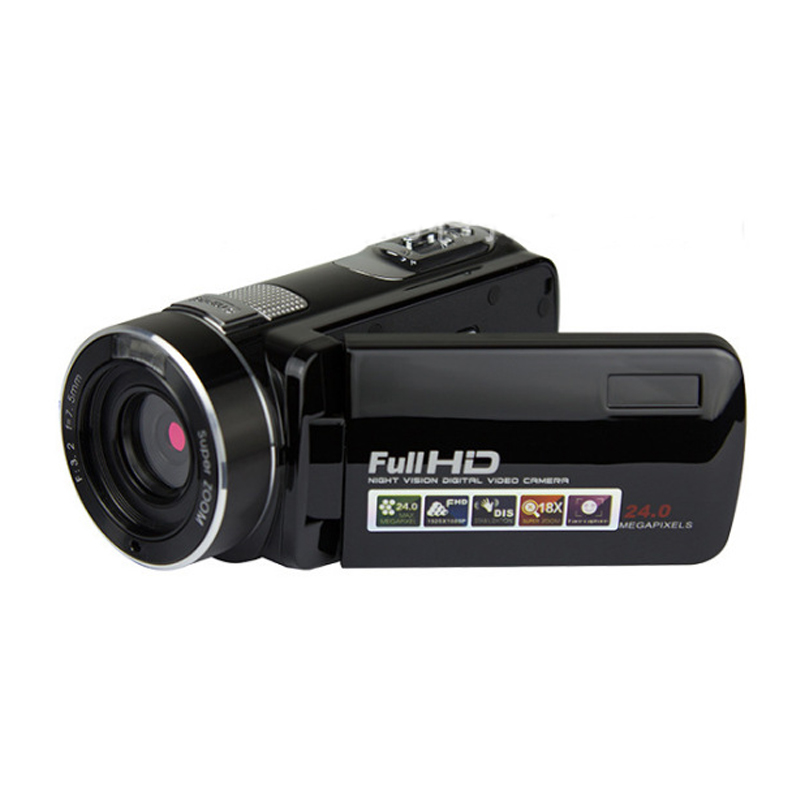 Wholesale Black Gold Portable Full Hd 1080p Night Vision Digital <font><b>Video</b></font> Camera with Remoter Camcorders Home Outdoor Traveling Use image