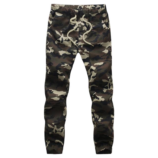 Los hombres de Camuflaje Militar Pantalones 2017 Mens Jogger Primavera Lápiz Harem Flojos Cómodos Impresión Camo Carga Joggers