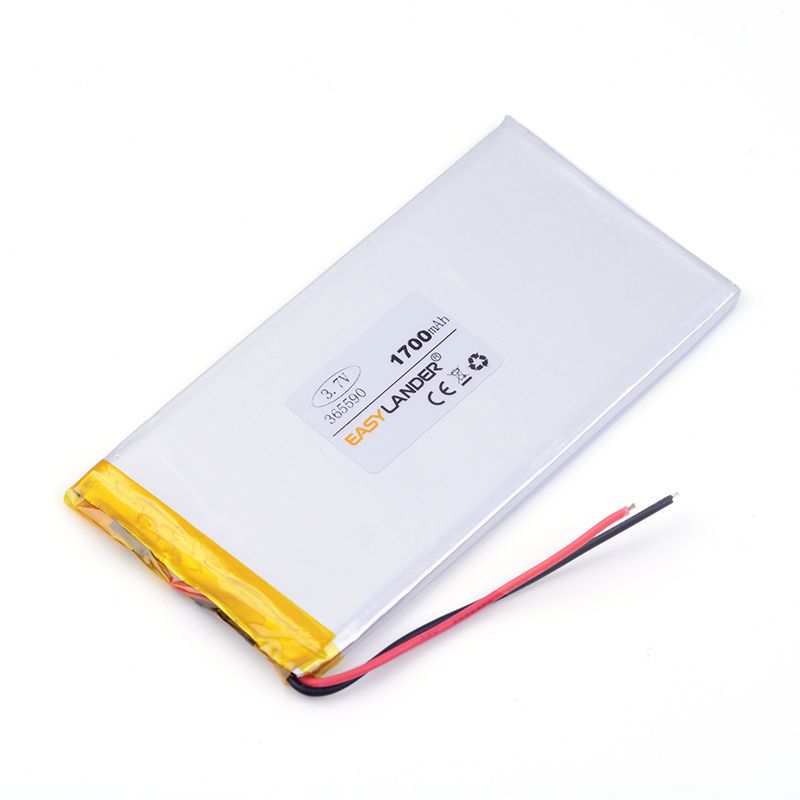 The new high-capacity polymer battery 3.7V rechargeable batteries lithium batteries Tablet PC battery 365590 1700mah GPS wholesale 925176 3 7v high capacity lithium polymer battery gps 4000mah mobile power batteries