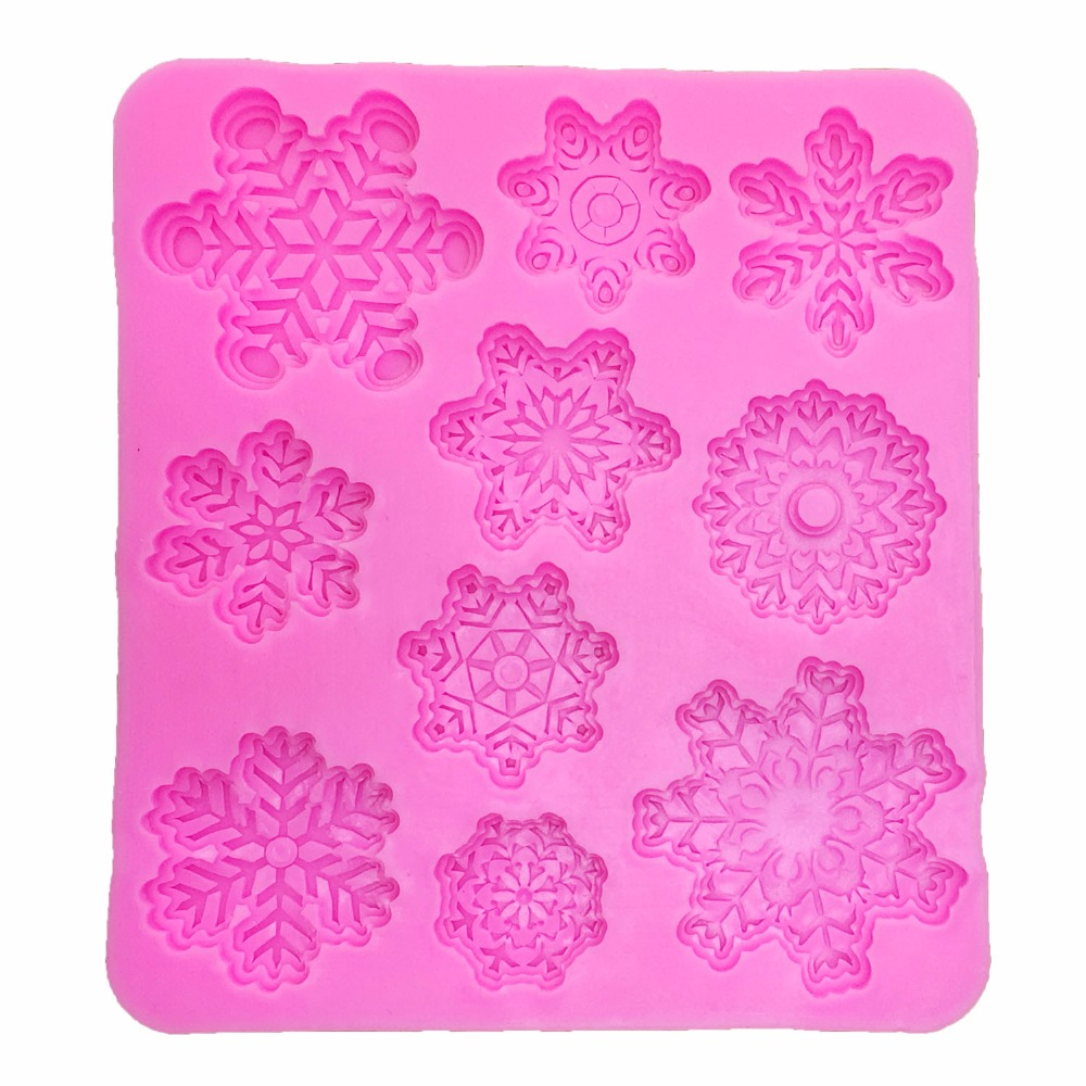 Christmas Snowflake <font><b>Silicone</b></font> <font><b>mold</b></font> <font><b>fondant</b></font> <font><b>mold</b></font> <font><b>cake</b></font> <font><b>decorating</b></font> <font><b>tools</b></font> chocolate gumpaste <font><b>mold</b></font> kitchen Baking <font><b>tools</b></font> T1087 image