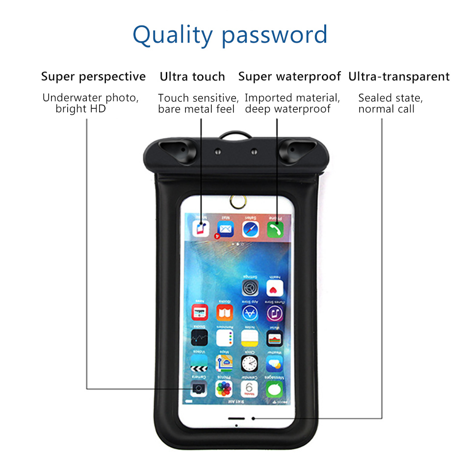 Universal Waterproof Bag 6 inches Pouch Phone Case For iPhone XS XR X 8 7 6 Plus Cover Cases For Samsung S8 S9 Note 8 (3)