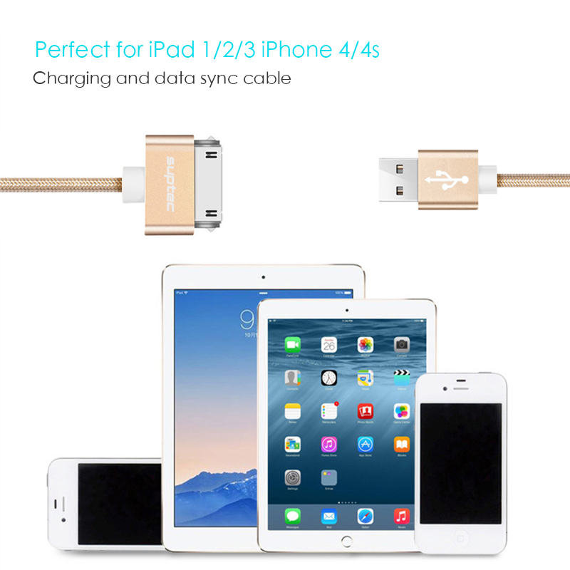 4X USB SYNC DATA POWER CHARGER CABLE APPLE IPAD IPHONE 4S 4 3GS IPOD TOUCH GREEN