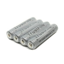 4pcs/lot TrustFire 10440/AAA 600mAh 3.7V Li-ion Battery Rechargeable Batteries with Protected Borad For LED Flashlight