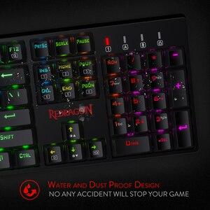 Image 5 - Redragon K582 SURARA RGB LED עם תאורה אחורית משחקים מכאניים מקלדת with104 מפתחות ליניארי ושקט אדום מתגי מהיר Actuation