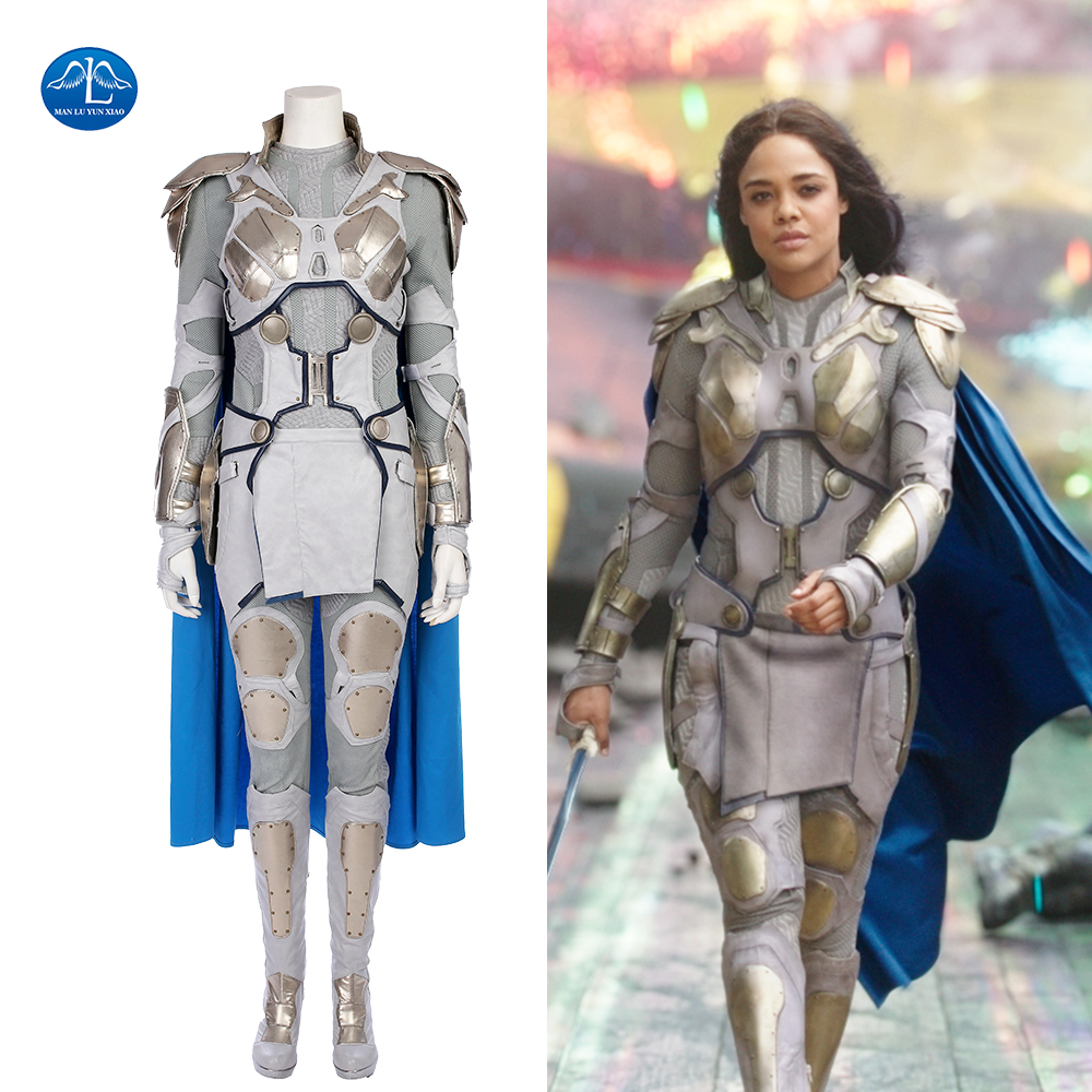 MANLUYUNXIAO Thor Ragnarok Cosplay Costume Valkyrie Costume Halloween Costumes Pour Femmes Custom Made En Cuir Costume