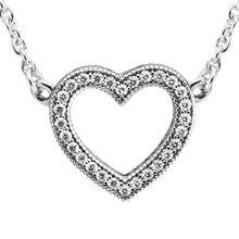 Saint valentin amour coeurs collier & pendentif 925 bijoux en argent Sterling collier élégant pour femme saint valentin