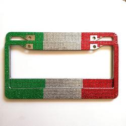 1 sztuk diament inkrustowane trzy kolor ramka do tablicy rejestracyjnej dla American standard