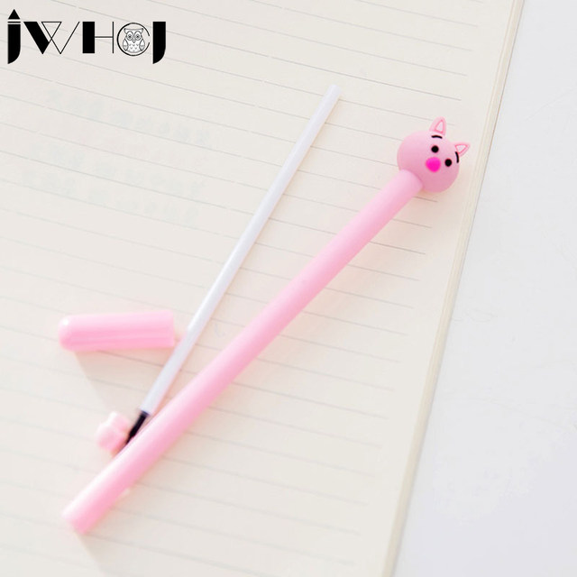 2 Pcs Lot Cute Pink Pig Gel Pen Kawaii Stationery Office Material Escolar Papelaria Writing Tools School Supplies Kids Gifts