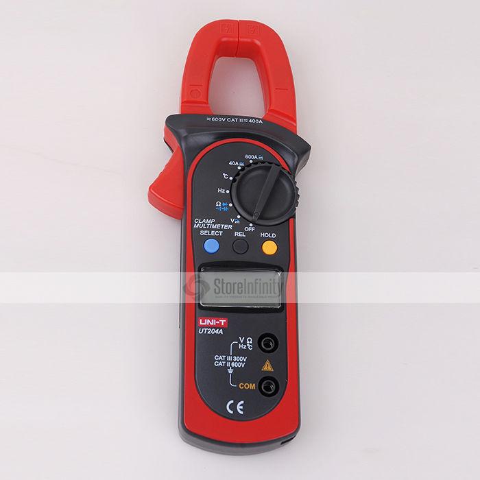 Uni-T UT204A Auto-Ranging AC DC Digital Handheld Clamp Meter Multimeter uni t ut204a lcd digital clamp multimeter