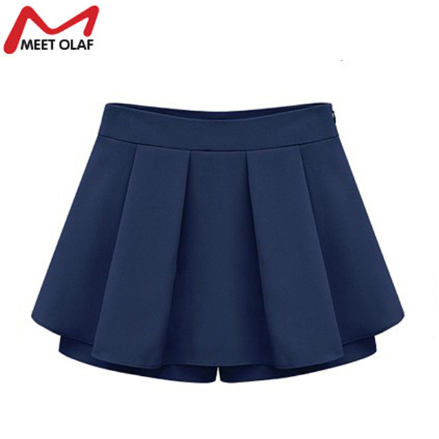 Women Fashion Skirts Shorts Summer Plus Size Culottes For Woman Fitness Shorts YL505
