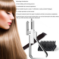 High end Professional 6D No trace Hair Extension Machine High quality Natural Real Hair Style Wig Connector Tool Keratin Hair