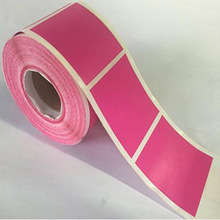 2 Inch Square Fluorescent Pink Color Coding Dot Label Circle Stickers self-adhesive sticker label stationary to decor