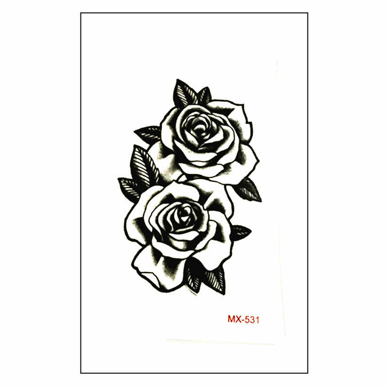 0ff73dea3 Detail Feedback Questions about New arrive Waterproof Temporary Tattoo  Sticker 10.5*6 cm cute black rose Tattoo water transfer fake Flash tattoos  for men ...
