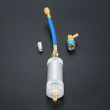 1/4SAE 2OZ Oil Injector R134A R12 R22 Car Oil Coolant Filler Tube HVAC Tool Injector Dye oz Injection Auto Tools bos den del piezo inejctor disassemble remover injector tool andinstallation injection tool suit all kind of