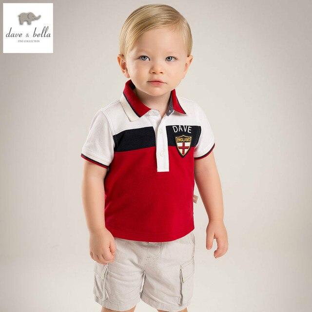 08790d91c DB5183 dave bella summer baby boys cotton t shirts infant clothes toddle  kids tops children cotton t shirt