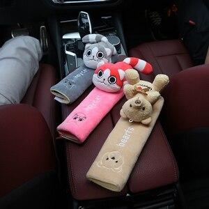 Image 4 - Pack de 2 almohadillas para cinturón de seguridad de coche, almohadilla para correa de hombro Universal para asiento de coche, funda de cojín, Protector para cinturón de coche, funda de cinturón de seguridad YC007