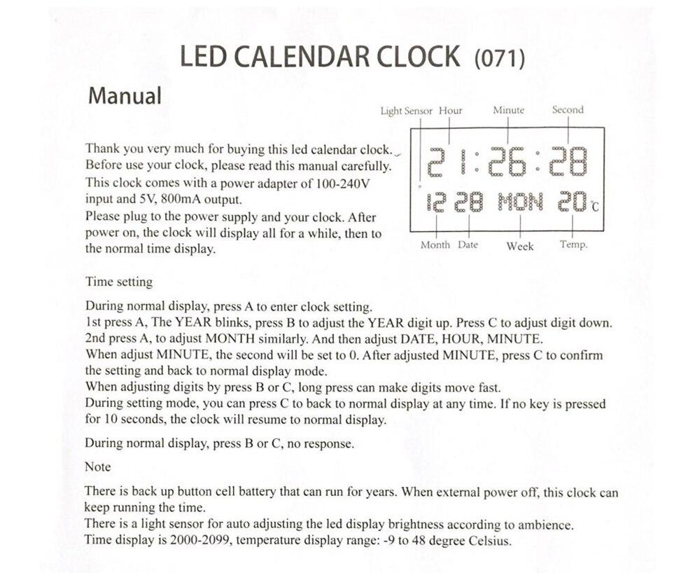 و Led Wavecepter ساعة 4