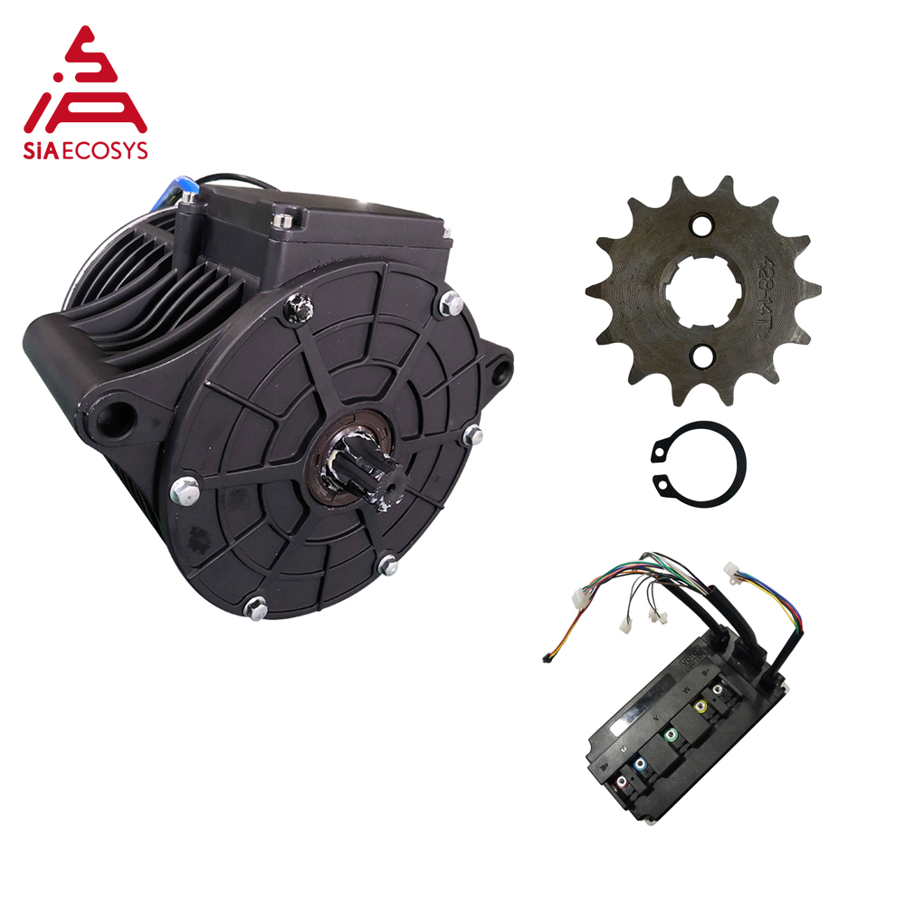 QS MOTOR 138 3000W New Version Mid Drive Motor Sprocket 428 And EM150SP Controller For Electric Motorbike Z6 100KPH 72V