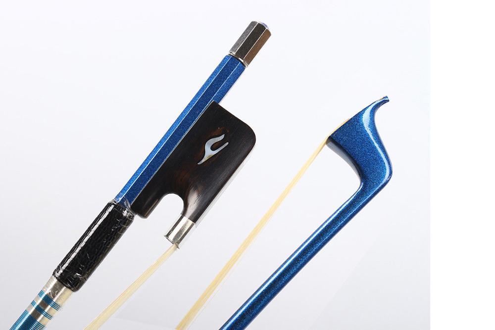4/4 arc de violoncelle de qualité supérieure en Fiber de carbone bâton bleu AAA cheveux de cheval Pernambuco niveau violoncelle pièces et accessoires