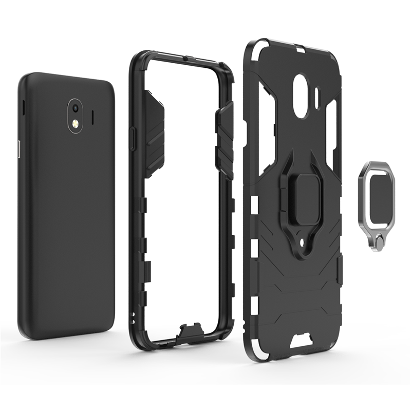 For Samsung Galaxy J4 2018 Case Magnetic Suction Ring Holder Anti knock Case For Samsung J4 2018 Cover For Samsung J4 2018 Case in Fitted Cases from Cellphones Telecommunications