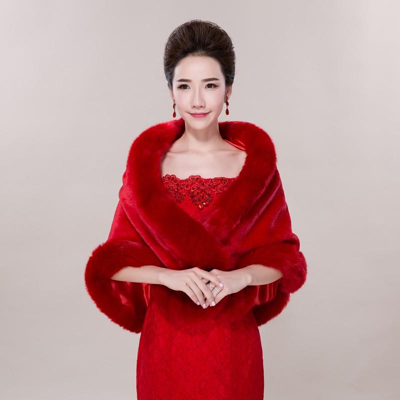 2017 chaud rouge veste de mariage marie wraps cape dhiver de marie wraps bolero - Bolero Fourrure Mariage Pas Cher