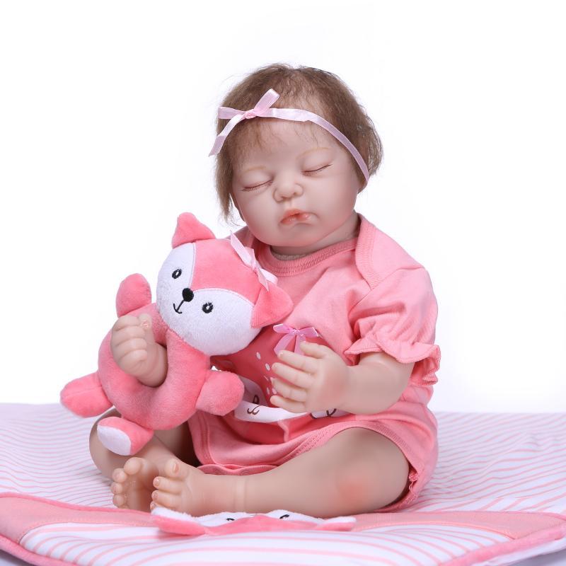 NPK poupée 51 CM réaliste simulé entreprise Silicone toucher vrai doux Reborn poupée courte cheveux bouclés filles jouet bebe reborn menina BJD