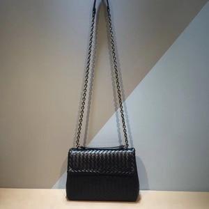 Image 1 - Iç ve dış dermis crossbody çanta basit omuz çantası yüksek kaliteli dokuma çanta koyun derisi kadın hakiki deri