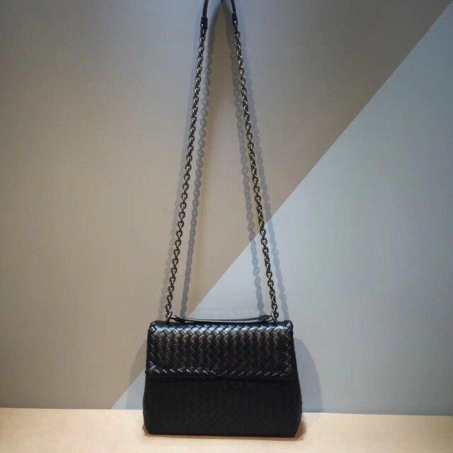 Iç ve dış dermis crossbody çanta basit omuz çantası yüksek kaliteli dokuma çanta koyun derisi kadın hakiki deri