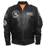 MAPLESTEED Aviator Bomber Leather Jacket Men's Leather Jackets Black Wine Red Vegetable Tanned Goat Skin Fighting Pilot Coat 096