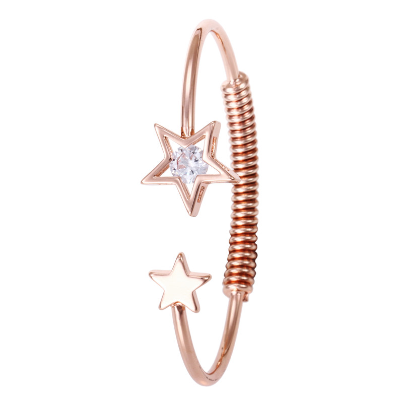 5-Fashion Luxury Carter Love Bracelet Crystal Charms Bracelet & Bangle Gold Color Stainless Steel Jewelry Valentines Day Gift