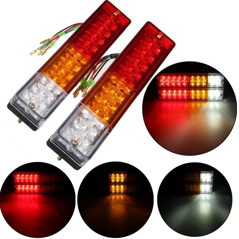 2x 12v Caravan Led Trailer Tail Reverse Lights LED Rear Turn Signal Truck Trailer Lorry Stop Rear Tail Indicator Light Lamp