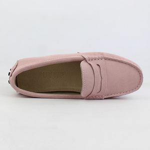 Image 3 - 2020 Top Fashion Womens Flat Shoes Genuine Leather Woman Shoes Flats Casual Loafers Soft Slip On Moccasins Lady Driving Shoes