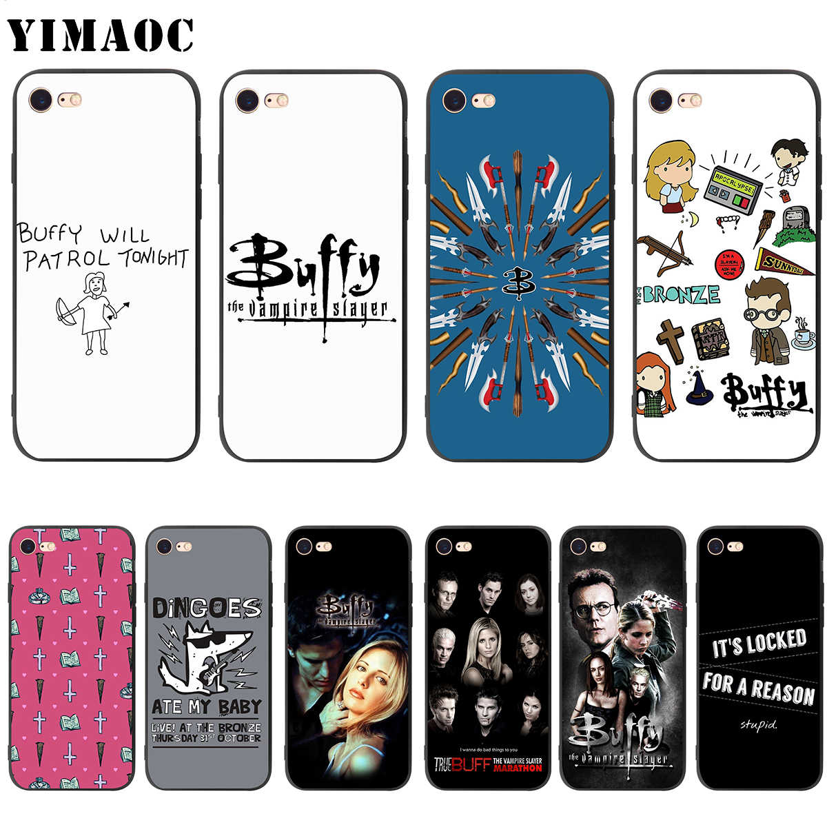YIMAOC Buffy The Vampire Slayer Molle della Cassa Del Silicone per il iPhone 11 Pro XS Max XR X 8 7 6 6S Plus 5 5s se