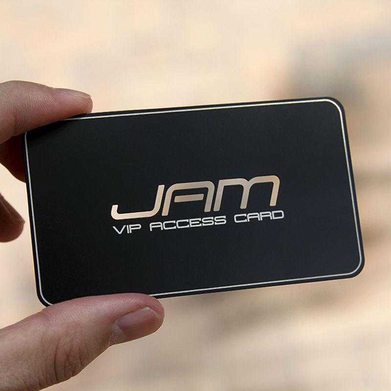 Metal Business Card High-grade Card Black Business Card Creative Business Card Making Senior Business Card Laser Engrave Card