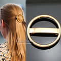 Catwalk Chic Bold Hoop Bar French Updo Hair Head Pin Clip Dress Snap Barrette Jewelry 2017 New