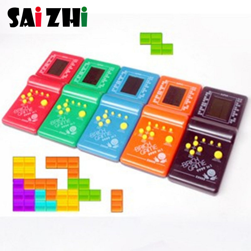 Saizhi Classic Video Electronic Toys Tetris Board Game Retro Handheld Game Player Console Game Gift For Children And Adult