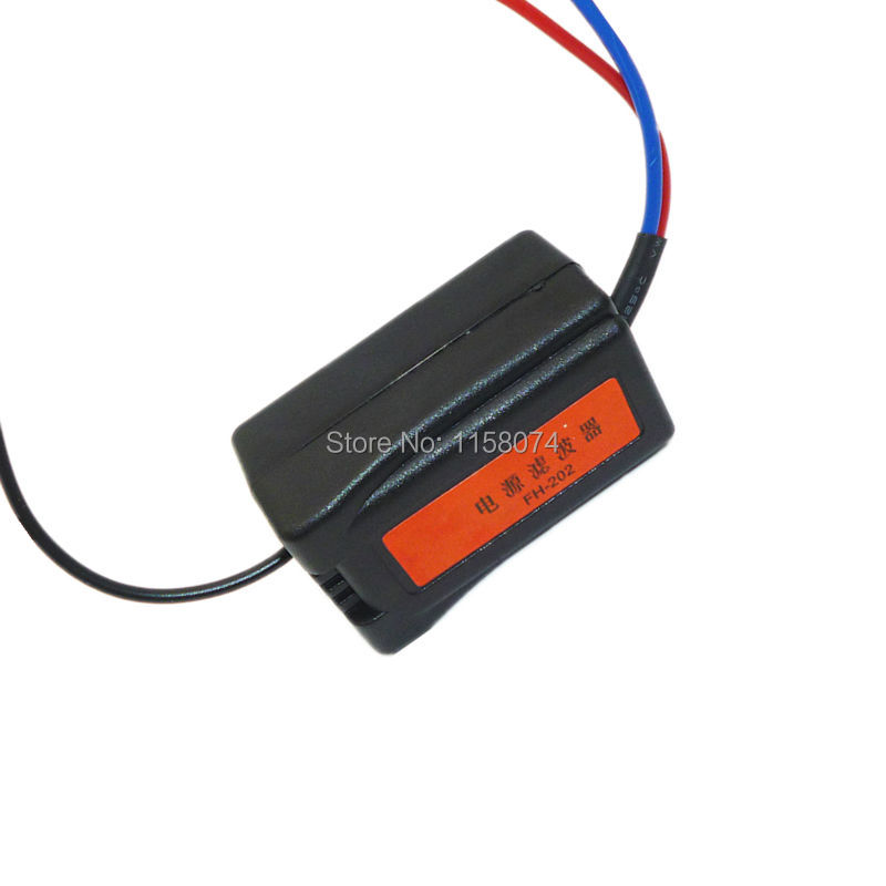 12V Car Power Supply Filter Auto Power Supply Remove Noise Interference Filter Auto Stereo Radio Audio Universal High Quality